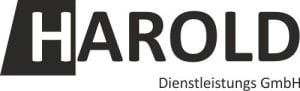 Schwarz weißes Logo der Firma Harold Dienstleistungs GmbH
