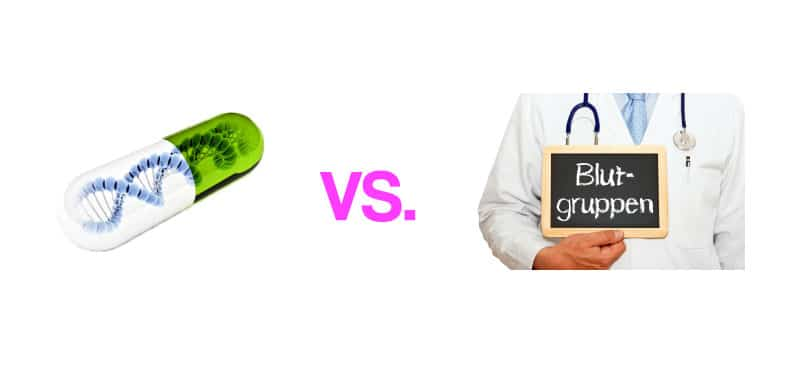 Blutgruppen-Diät vs. DNA-Ernährungsplan