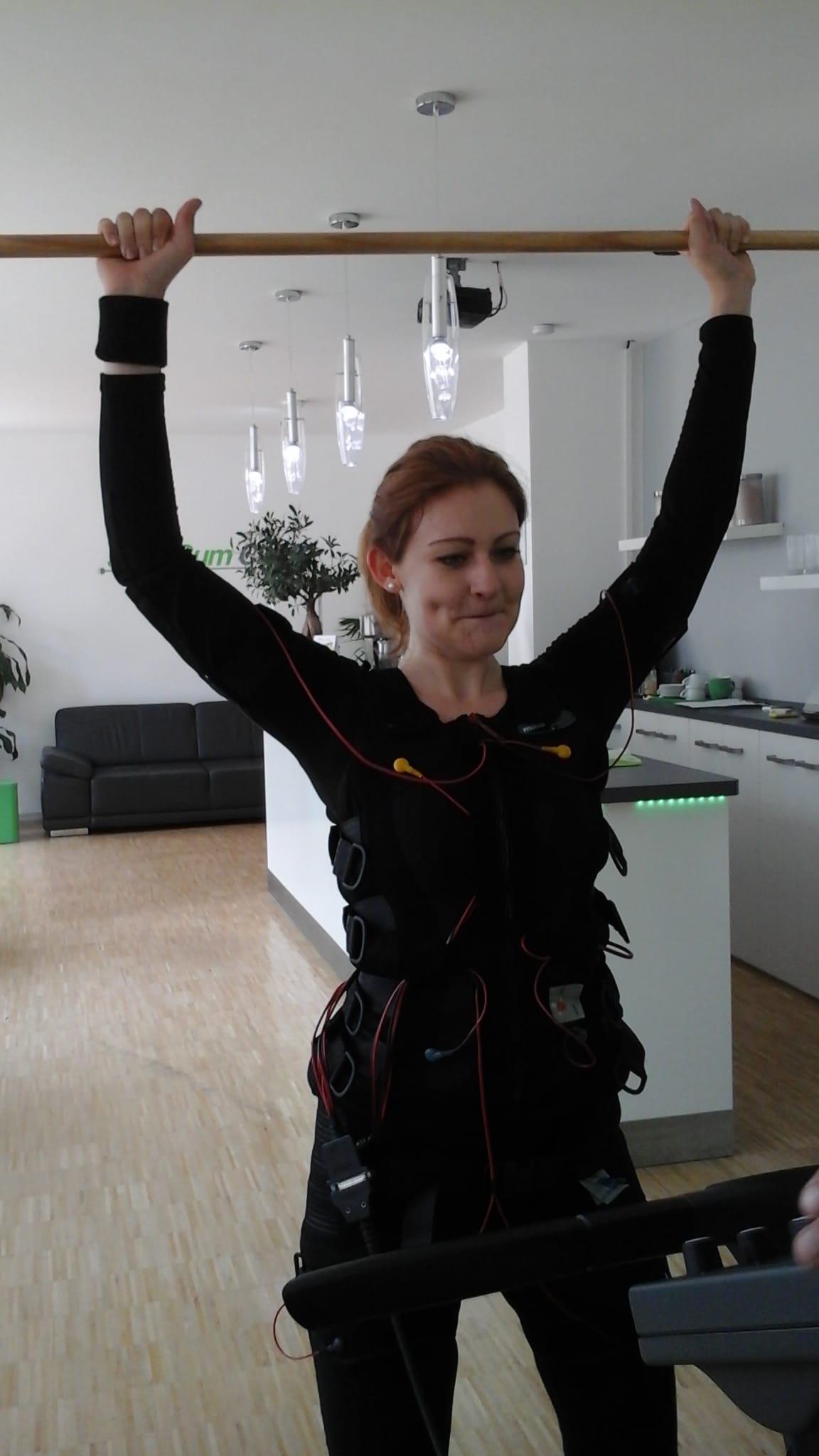 Glückliche Slim-Gym Kundin Anastasia Sudzilovskaya