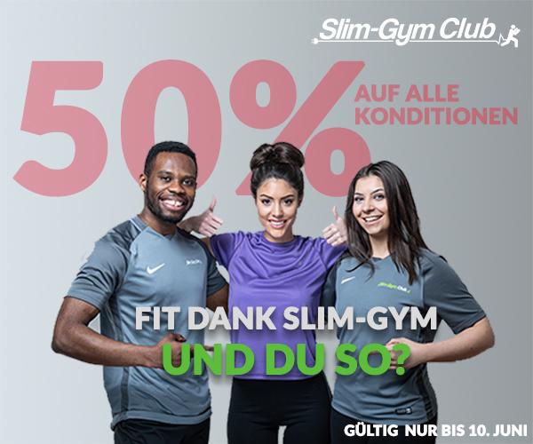 Fit dank Slim-Gym. Und du so? Sommerwochen bei Slim-Gym in Berlin Charlottenburg.